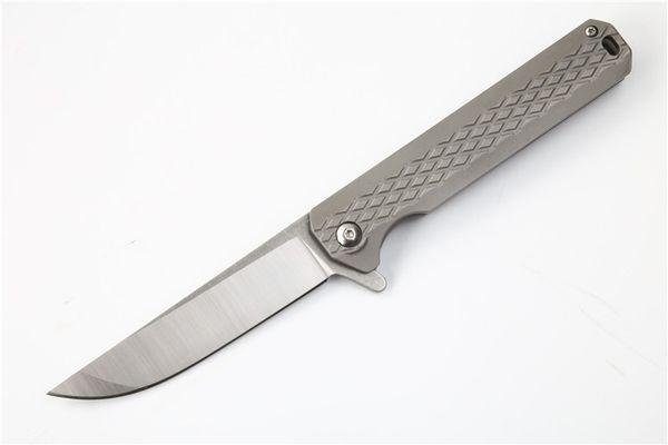 High End 2 стиль Флиппер складной нож D2 точка падения Сатин лезвие TC4 титанового сплава ручка шарикоподшипник EDC карманные ножи