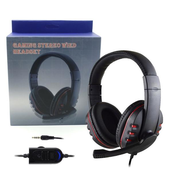 Per PS4 Wired Gaming Cuffie Cuffie da 3,5 mm Cuffie da gioco per commutatore con microfono per PC Computer portatile iPhone Samsung