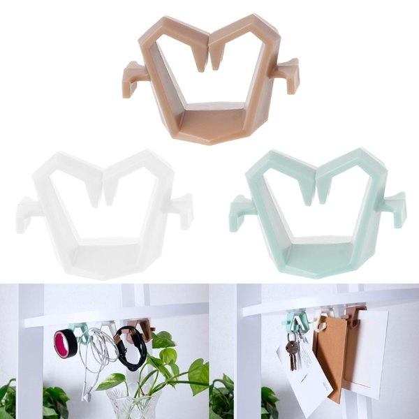 Multifunctional Key Towel Rack Hook Kitchen Cabinet Ceiling Hanging Storage Holder Home Organization Hooks Rails