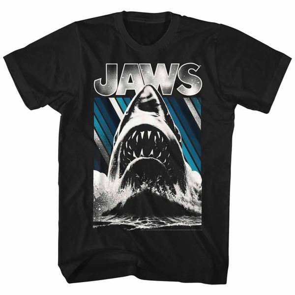 Jaws Jaws Black Adult Kurzarm T-Shirt Neue Herren Frühling Sommer Kleid Kurzarm Casual Kurzarm Cool Casual