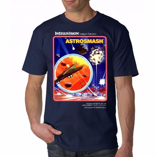 Shirt Shop Cotton Crew Neck Intellivision Ashromash Cover Men's Navy T-Shirt New Sizes S To 3XL Short-Sleeve Shirts For Men