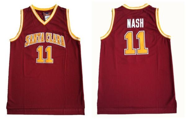 NCAA Santa Clara College 11 Steve Nash Trikots Herren Basketball Jersey Vintage genäht Shirt Classic Collection Sport