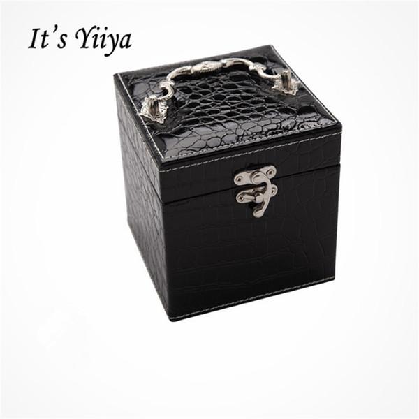 Es Yiiya Nuevo 4 Colores grandes Bolsas de cosméticos Bolsa de maquillaje Lady Style Casual Gilrs Almacenamiento Princesa Joyeros HZ008