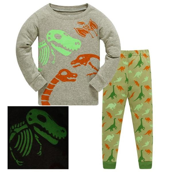 371cecefdc Nuevo Pijamas de Halloween Ropa de dormir para niños Pijamas para niños  Pijamas de algodón luminoso