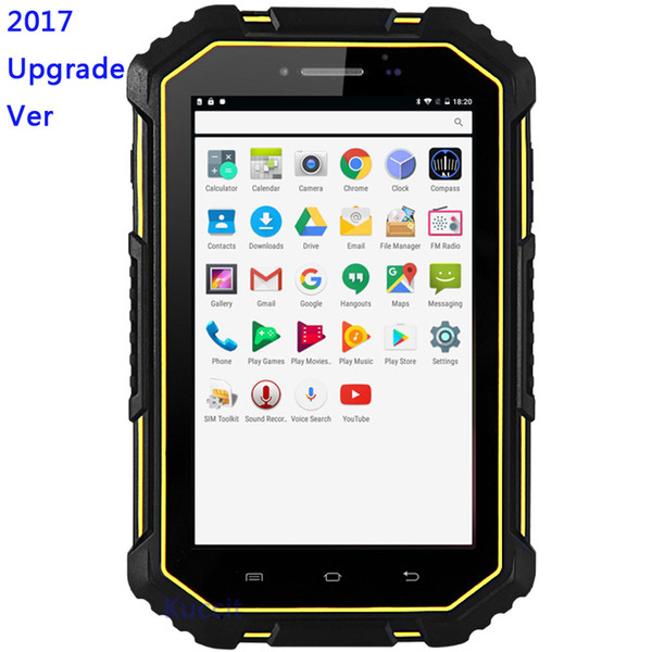 M16 Waterproof ip67 Android 6.0 Tablet PC 4G Lte 2GB RAM 16GB ROM GPS MTK6732 Waterproof Dustproof Phone 7000 Battery 13MP Quad core Dual SI