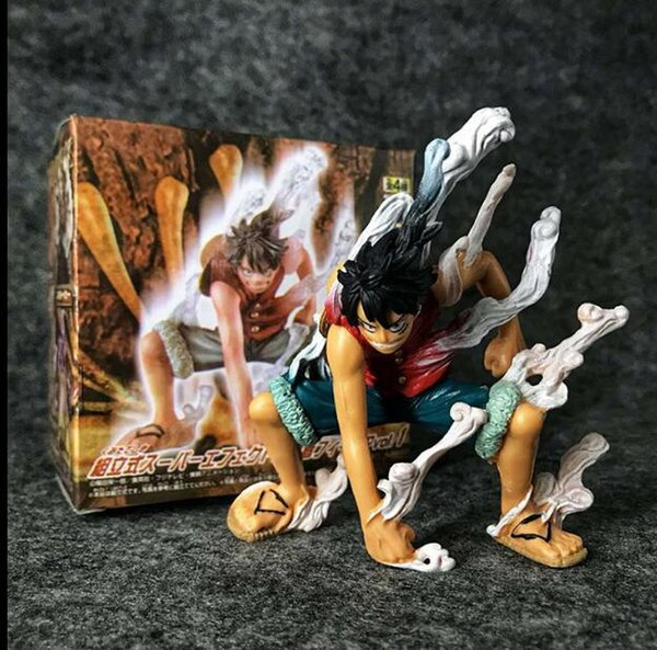 One Piece Straw Hat Big Boat Group Captain Must Kill Two Blocks Luffy Luffy Hand Model Product High 10CM