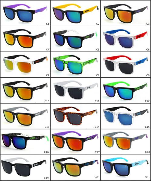 Marca Designer Spied KEN BLOCK Sunglasses Helm 21 Cores Homens Moda Quadrado Frame Brasil Raios Quentes Masculino Condução Óculos de Sol Shades Eyewear