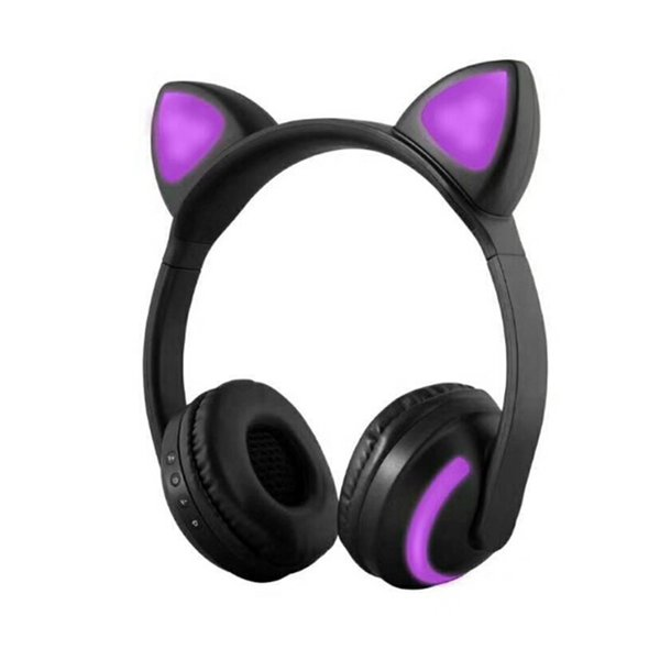 NEW Foldable Cat ear Bluetooth Headphone Flashing Glowing Headsets with LED light for iPhone 7 plus 6S MP3 S8 Cell phone