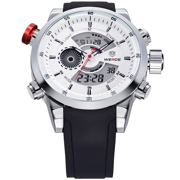 2017 Mens Watches WEIDE Top Brand Luxury Quartz Men Male Clock Digital LED Watch Military Sport Watch relogio masculino WH3401 S1019