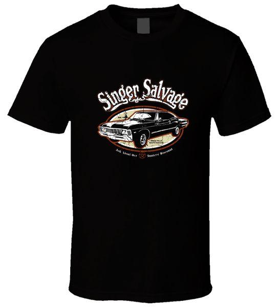 Singer Salvage Yard 4 Black T Shirt Summer Short Sleeves Cotton Fashion Mans Unique Cotton O - Neck T-shirt Funny