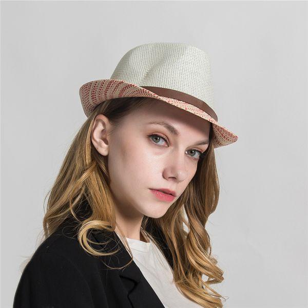 Unisex Jazz Hat For Men And Women Jazz Hat Sombreros Formal Man Panama Cap Fedoras Top Cap Drop Shipping H1033