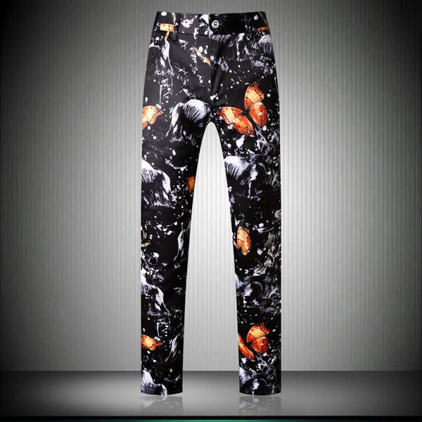 New Autumn Winter Pattern Men Suit Trousers Dress Pants Social Pants Male Fashion Casual Male Pantalon Homme Size 29-38