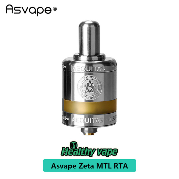 100% original Asvape Zeta MTL RTA 2.5ml PEEK Material Features Ceramic Build Deck & Updated Airflow Control System from healthyvaping