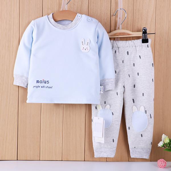 2018 Moda lindo bebê manga longa ternos longos para o inverno / bebê ternos para o inverno / 100% algodão ternos do bebê para o inverno (HG-87603-1)