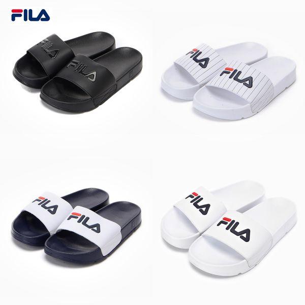 Original Fila Sports Slippers DRIFTER Drifting Series Men Women Casual Beach Sandals Slippers Breathable Wear Resistant Slippers Eur 36 44 High Heel