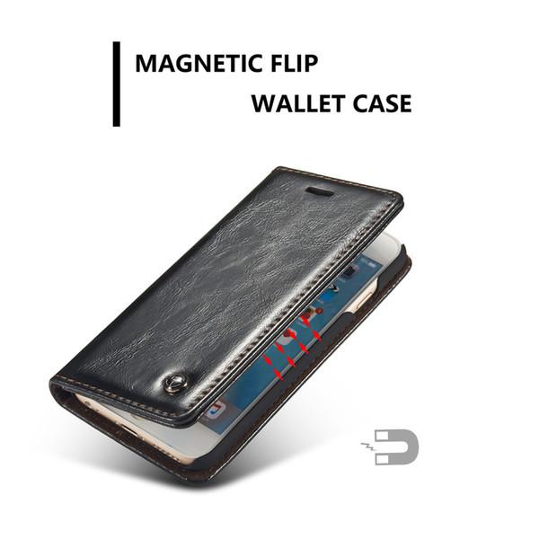 Caseme Brand Case For Iphone 6 Plus 6s Plus Magnetic Flip Wallet Leather Case For Iphone 6 6s /5 5s Se Premium Folio Cover Case