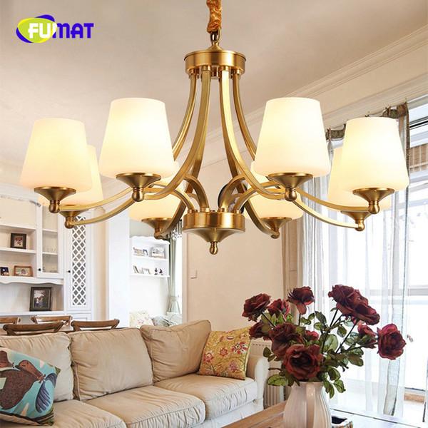 Compre American Retro Copper Led Lámparas De Araña Iluminación Comedor Led  Colgante Luces De La Lámpara Foyer Lámparas Colgantes A $197.68 Del ...