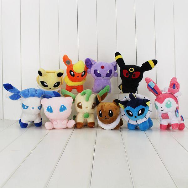 10 styles Mew Umbreon Eevee Espeon Jolteon Vaporeon Flareon Glaceon Leafeon sylveon Animals Soft Stuffed Dolls toy