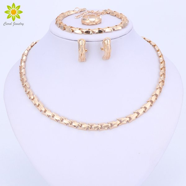 ashion Jewelry Sets 2017 Fashion African Beads Jewelry Set Exquisite Flash Dubai Gold Color Necklace Sets Nigerian Wedding Bridal Cheap ...
