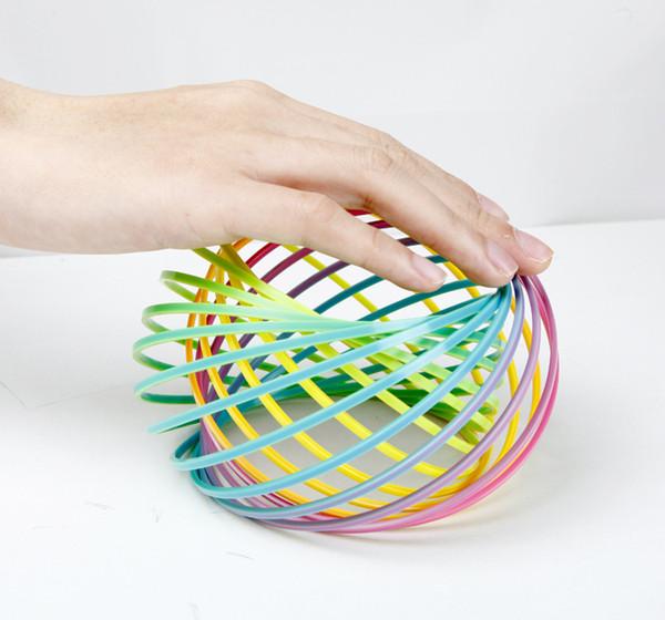Toroflux Flow Ring Holográfico de juguete en movimiento crea Ring Flow Rainbow Toys Anillos de flujo para niños 100pc wn441