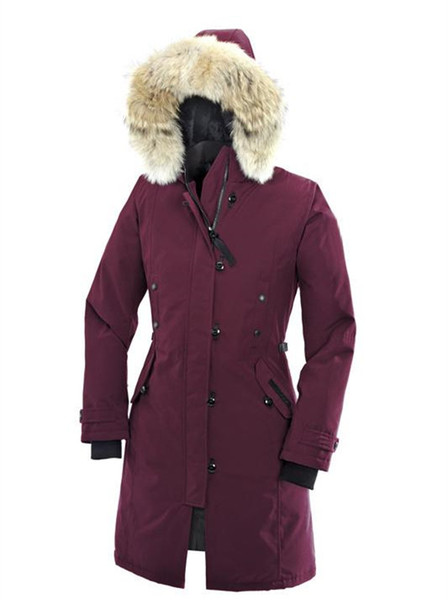 5286e5ed4 Down Coats Goose Women'S Kensington Parka Down Jacket Women Trillium Parka  Winter Jacket Arctic Parka Red Outdoor Coat Hoodies Real Wolf Fur Infant ...