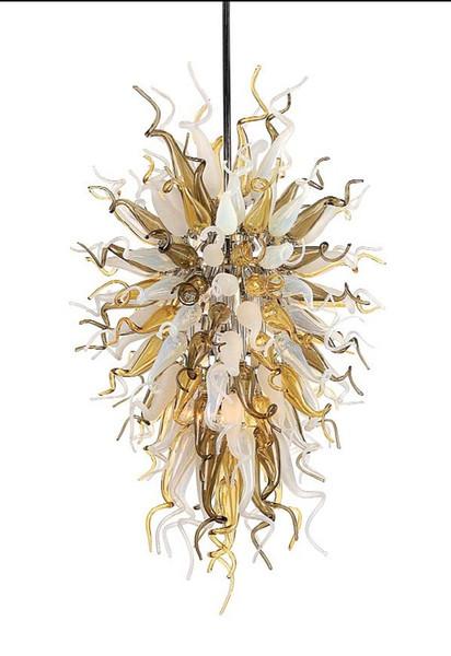 Venta al por mayor grande gran decoración del hotel fuente de luz LED Soplado a mano lámpara de cristal de Murano lámpara de araña de estilo europeo Chihuly
