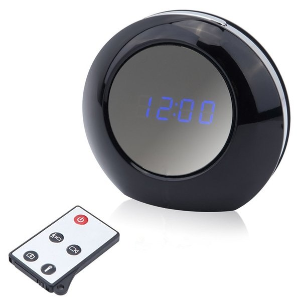 HD 1080P Alarm Clock Camera Mini Clock Camera Video Recorder Indoor Camcorder Motion Detection Security DVR With Remote Control