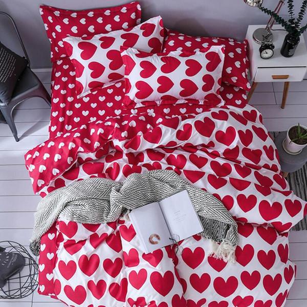 Fleur, fruit, ensembles de literie fashion3 / 4pcs / ensemble de lit / literie pour enfants / linge de lit Housse de couette drap de lit Taie d'oreiller, double reine en gros