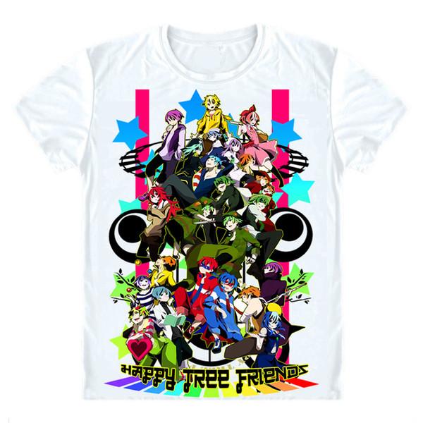 Happy Tree Friends Overkill T-Shirts Short Sleeve Shirts Anime Lumpy Cuddles Giggles Russel Sniffles New Splendid Comic Cosplay Shirt