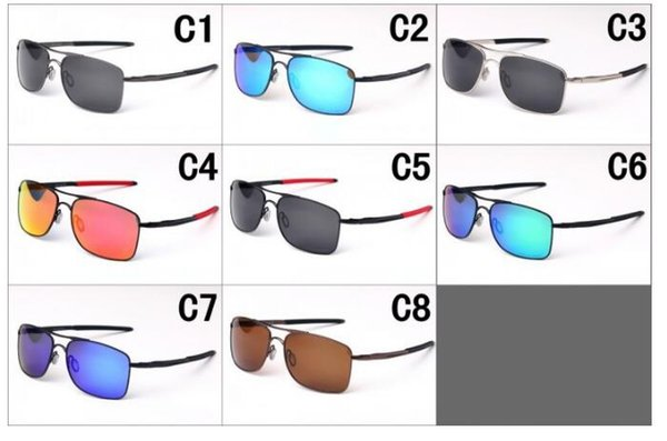 summer man metal polarized Sun glasses Fashion women outdoor driving Sunglasses sport cycling glasses Dazzle colour 8colors free shipping