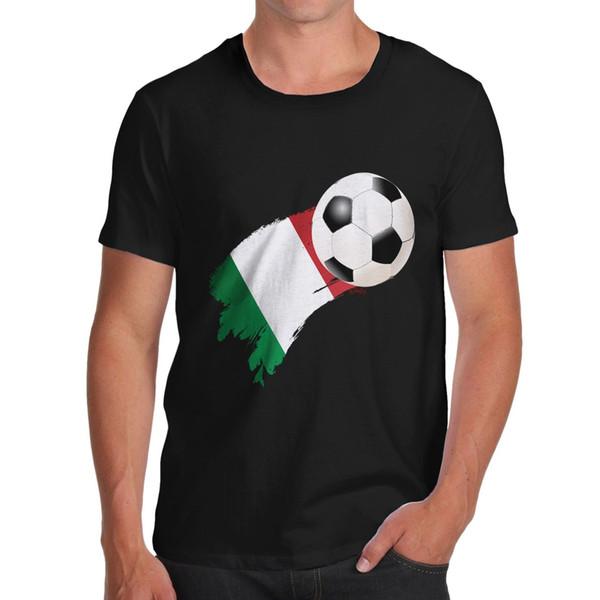 Satın Al Bükülmüş Envy Italya Futbol Bayrağı Boya Splat Erkek Komik