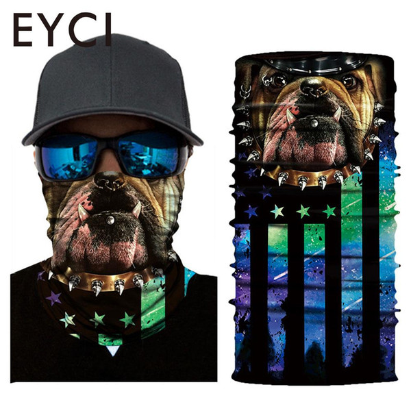 Animal Pattern Polyester 3D Neck Tube Riding Mask Head Scarf Multi-Function Magic Headscarf Face Mask Creative Clown