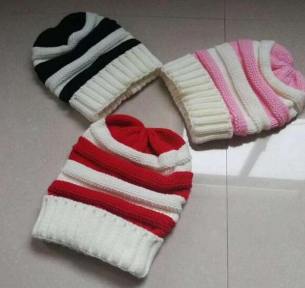 Plain Beanie Skull Cap Skully Knitted Hat Colors Warm Winter Ski Snow Headwear