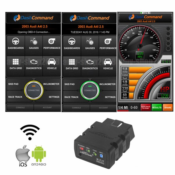 KONNWEI KW902 ELM327 Wifi OBD2 CAN-BUS Diagnostic Car Scanner Tool Works for iOS iPhone Android auto scan OBD II