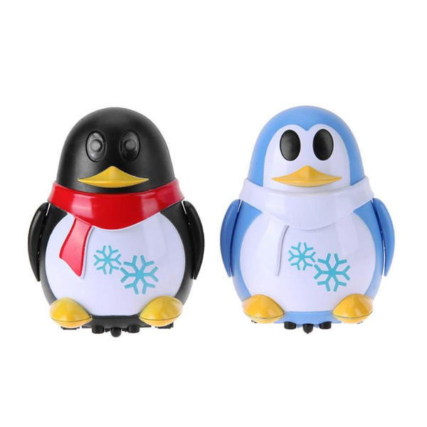 Cartoon Penguin Automatic Induction Model Cars Toys For Children Birthday Gift Along the Line Lighting Marking Baby Rattles