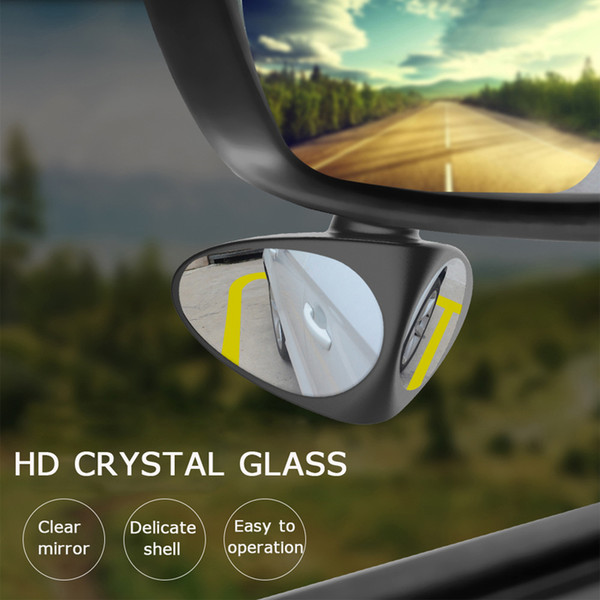 LOONFUNG LF75 2 in 1 Car Blind Spot Mirror Wide Angle Mirror 360 Rotation Adjustable Convex Rear View Mirror