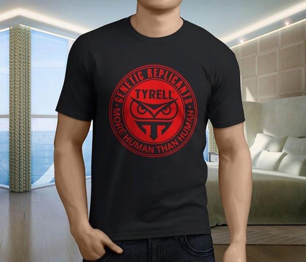T-Shirt nera uomo Blade Runner Tyrell Corp Retro Movie T-Shirt taglia S-3XL