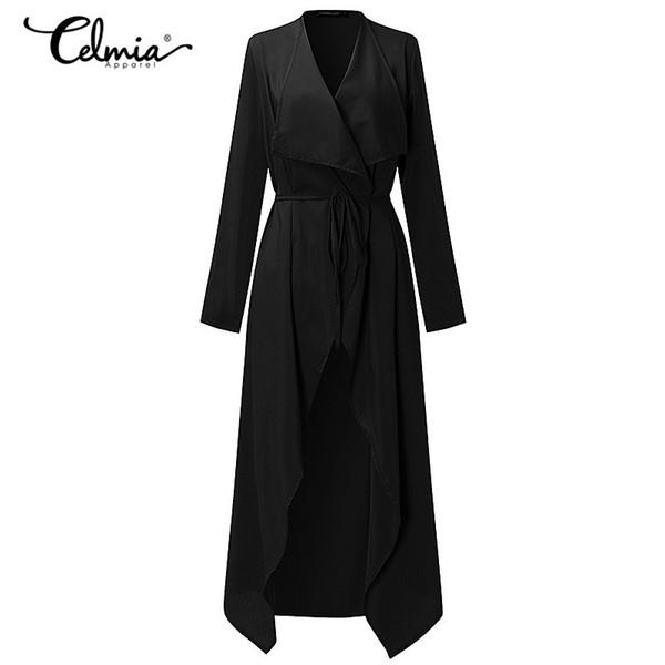 Women Trench Coat Long Outerwear Autumn Belt Elegant Cardigan Thin Windbreaker Fashion Casual Coat Female Clothes S-3XL 6 Color