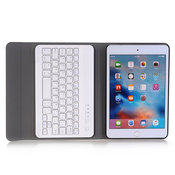 Keyboard Case with PU Leather Tablet Cases Folding Folio Smart Cover for Apple iPad Mini 4 Mini 2 3 1 Wireless Keyboard+Stylus A04