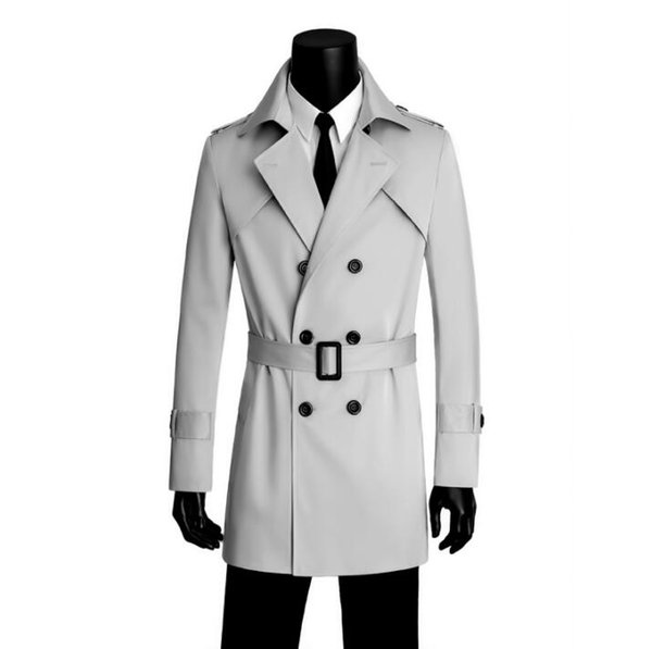Free shipping 2018 new designer slim sexy Double-breasted trench coat men overcoat long sleeve mens clothing business outerwear
