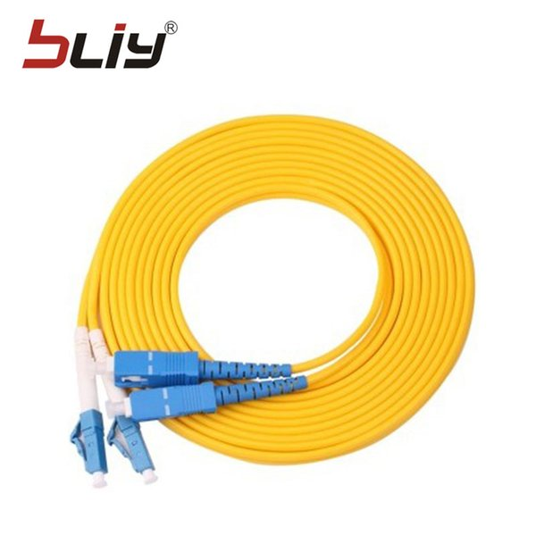 Free shipping 10pcs/bag LC/UPC-SC/UPC singlemode simplex fiber optic patch cord 3m optical patch cable/Jumper wire
