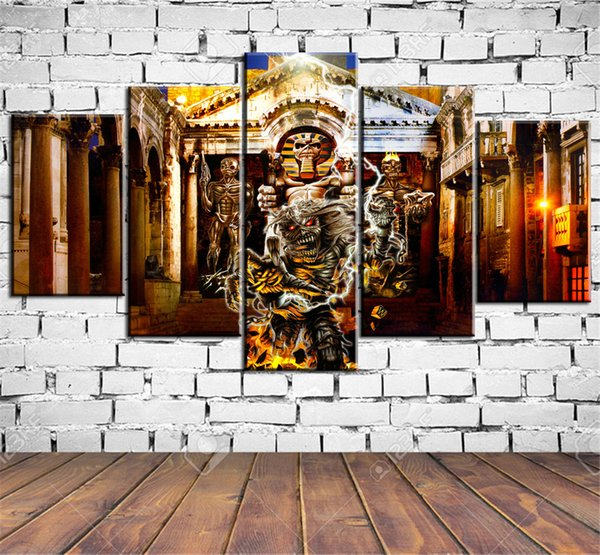 Compre Evil Fantasy Power Poster, 5 Piezas Home Decor Hd Impreso ...