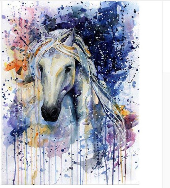 horse diamond painting kit full drill wall art mosaic poster animal diamond drawing oil paint canvas rhinestone pasted needlework craft gift