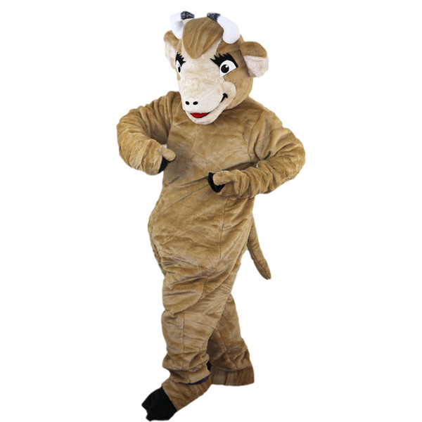 2018 New high quality Bull, yak Cattle scalper Mascot costumes for adults circus christmas Halloween Outfit Fancy Dress Suit Free Shipping