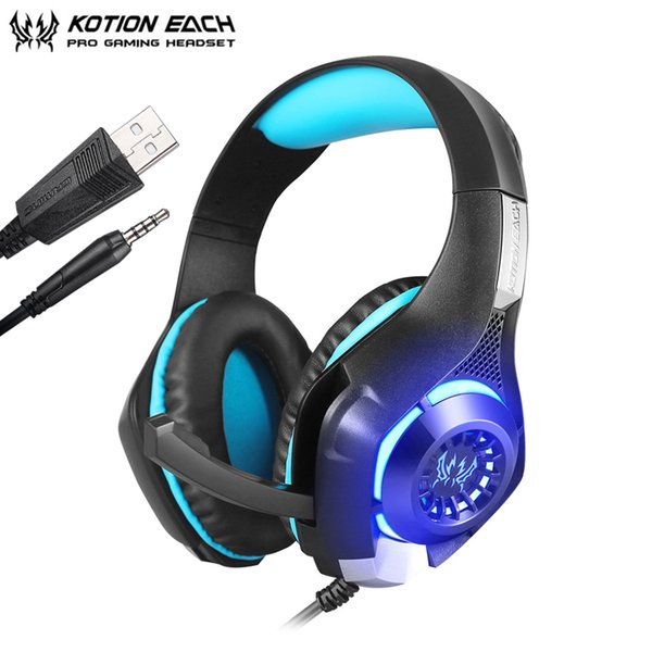 HOT EACH GS400 Gaming Headset Gamer casque 3.5mm Stereo Headphones with Microphone for Laptop PS4 Gamepad New Xbox One GM-1