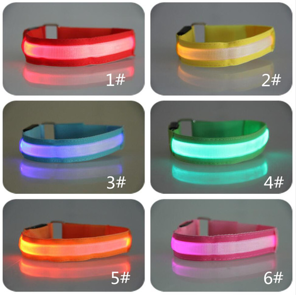 top popular 3D luminous flash bright arm with 2018 new arm band wrist band concert party decorations wholesale free shipping 2020