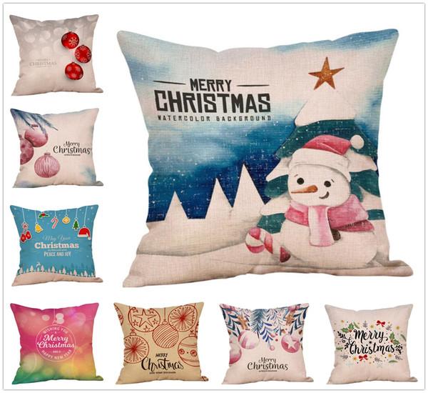 I regali della decorazione del letto della casa della copertura del cuscino del cuscino del modello di stile di Natale dell'annata di nuovo modo liberano il trasporto