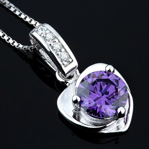 Pure s925 Standard Silver Jewelry For Women Pendants Necklaces Heart Love Diamante Crystal Slider Romantic Valentine's Day Gifts 20*11mm 1pc