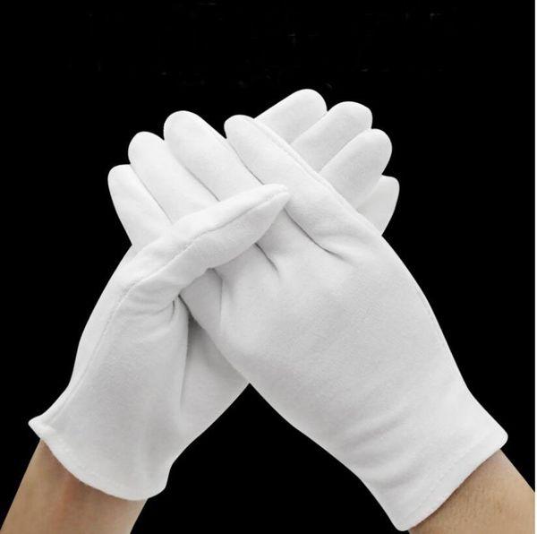 1pair weiße Arbeitsversicherung dicke Baumwolle Arbeit Baumwolle Tuch dünne mittlere und dicke Etikette Wenwan Qualitätsprüfung Handschuhe