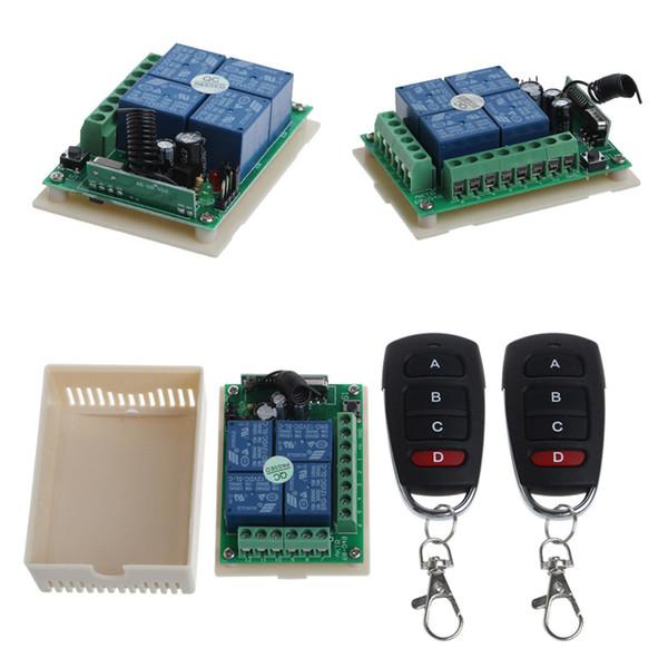 12V 4CH Channel Relay Wireless RF Fernsteuerungsschalter 2 Sender + Empfänger